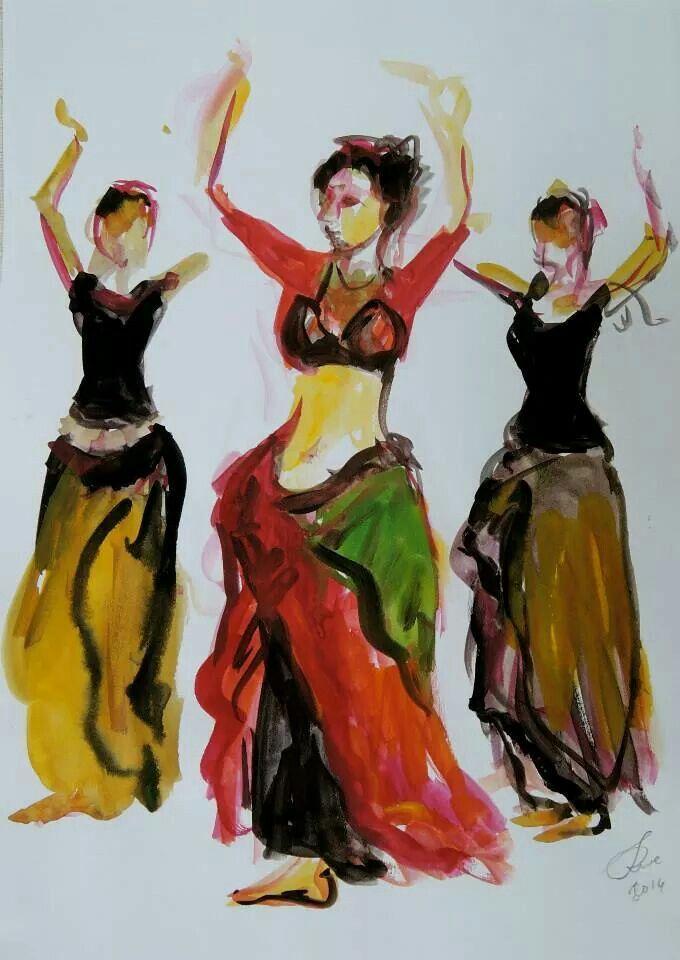 249 best Paintings & Digital Art Belly Dancers images by ...