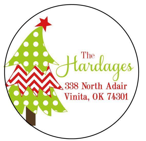 christmas address labels round address stickers christmas round