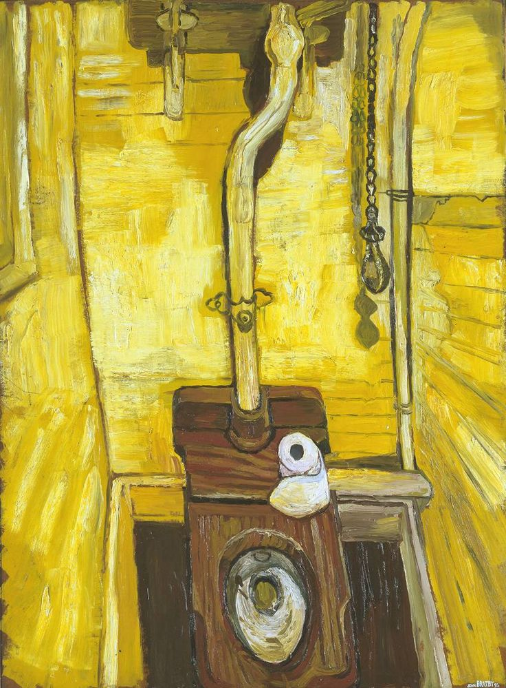 John Bratby 'The Toilet', 1955 © The estate of John Bratby. All Rights Reserved 2010 / Bridgeman Art Library