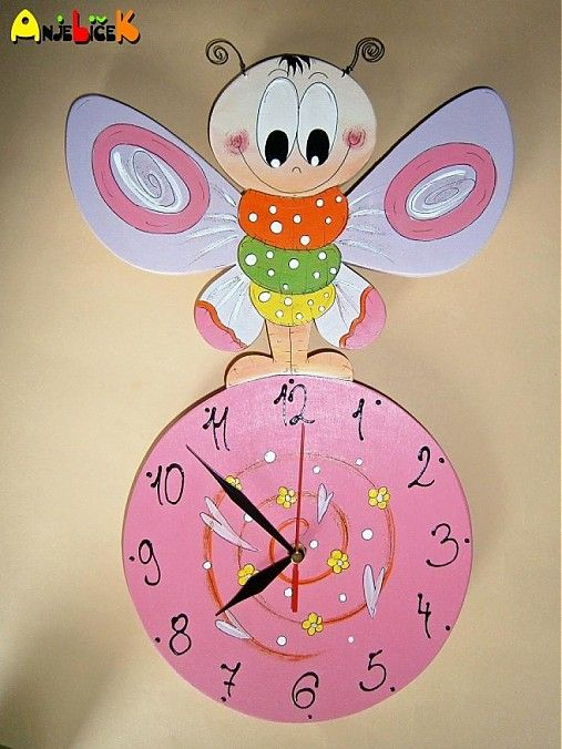 anjelicek / Hodiny motýlik