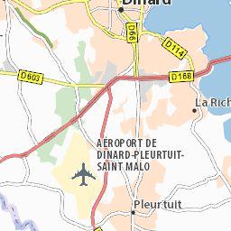Carte détaillée La Richardais - plan La Richardais - ViaMichelin