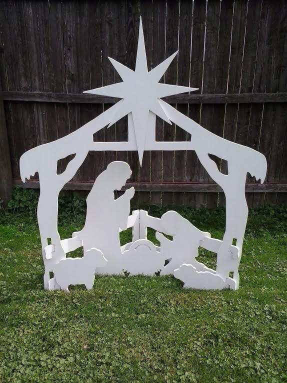 Christmas Outdoor Nativity Scene Outdoor Wood Yard Art Lawn Decoration by MikesYardDisplays on Etsy