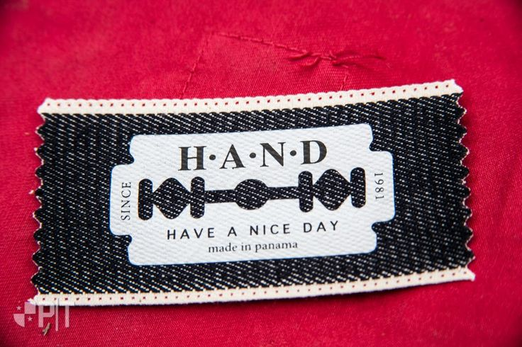 Heat transfer label made in Italy by Panama Trimmings #denim #details #vintage #labeling