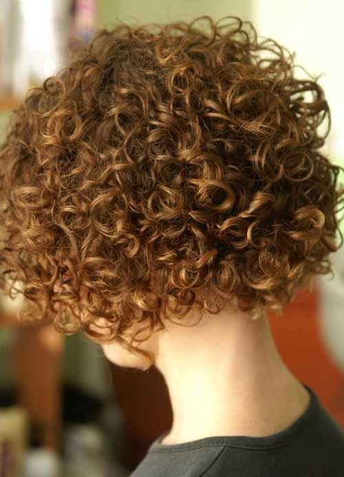 Short Curly Perm for Brown Hair