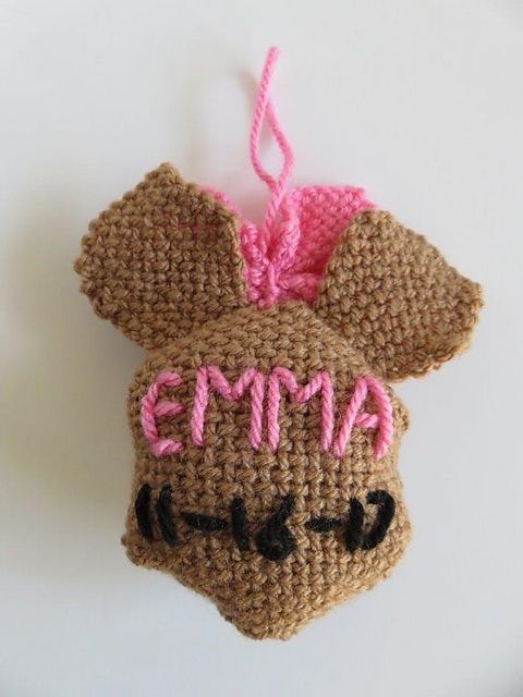 Ravelry: TexasGabi's TURTLE Hexagon Pin Loom: Baby Bear Personalized Ornament