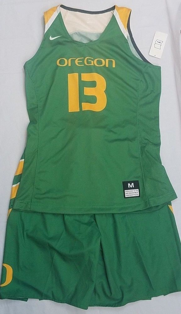 2b907aa0eaa0 Nike Oregon Ducks Team Basketball Uniform Medium Pac 12 Green Yellow Womens  NCAA  Nike  OregonDucks