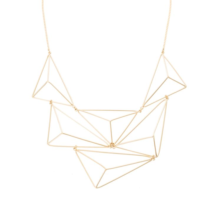Buy the 3D Triangular Collar Necklace at Oliver Bonas. Enjoy free worldwide standard delivery for orders over £50.