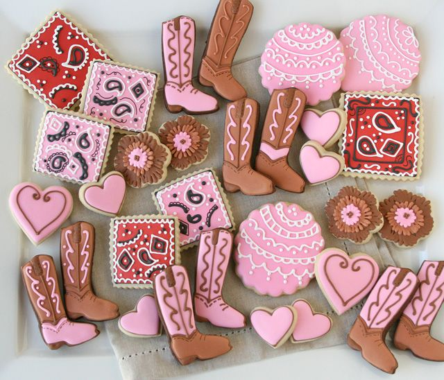 Nail Cake Blue Black Splodges Cow Print: 17 Best Images About Rodeo Cookies On Pinterest