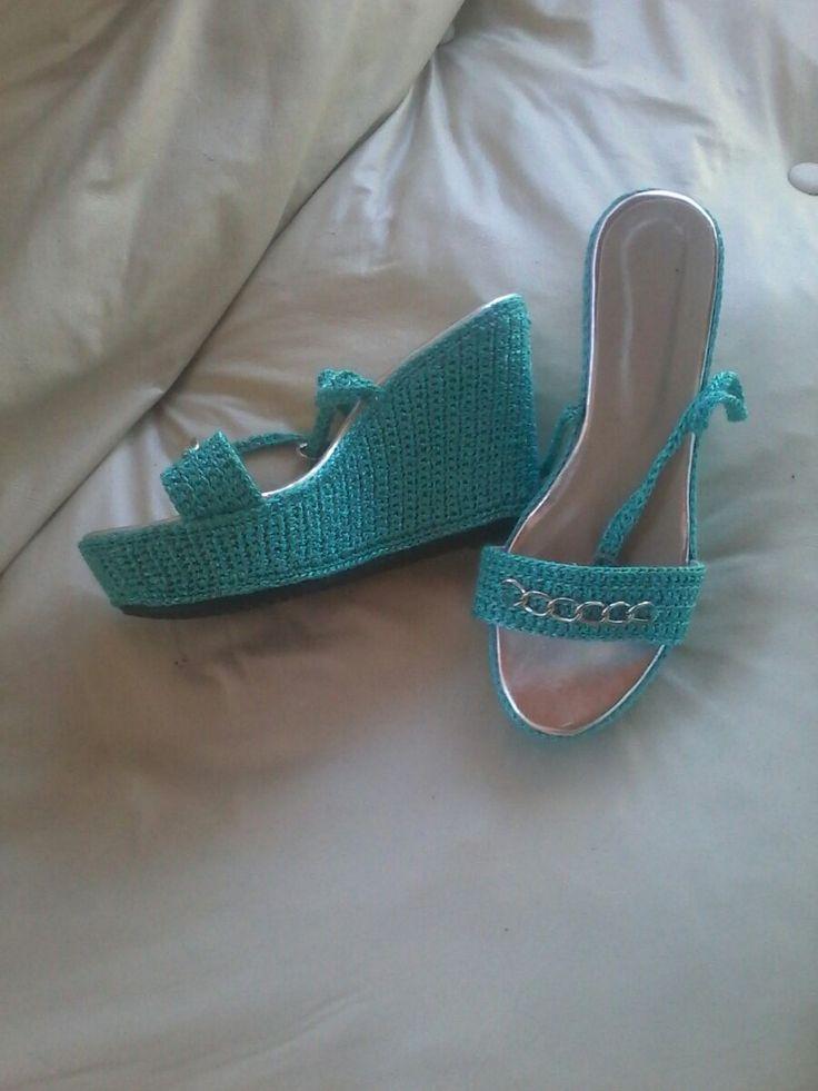 Sandalia Crochet - $ 989,00 en MercadoLibre