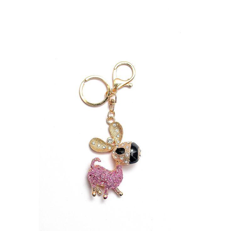 Metal Key Chain Animal Pink Rp 80.000