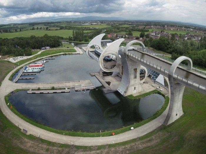 Falkirk, Home of Falkirk Wheel Genel, The World's Only Rotating Boat Lift - June 2016