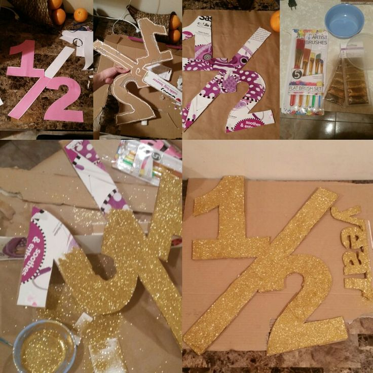 DIY half birthday sign