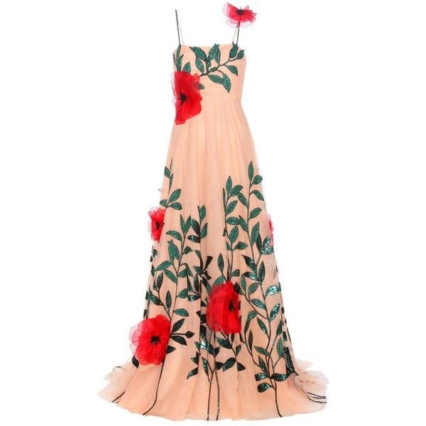 Gucci Embellished Cocktail Gown (648.225 ARS) ❤ liked on Polyvore featuring dresses, gowns, gucci, cocktail/gowns, neutrals, cocktail dresses, red dress, cocktail gown, red cocktail dresses and special occasion dresses