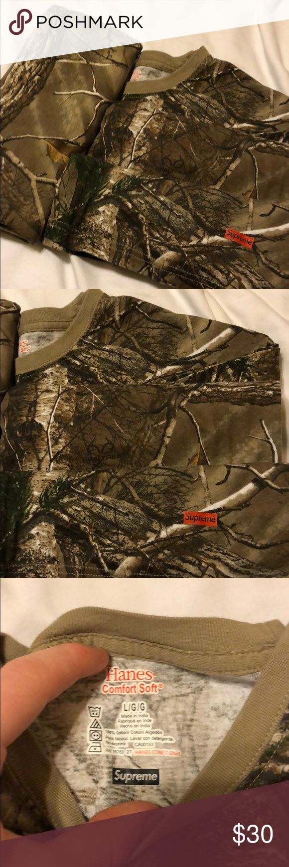 Supreme RealTree Hanes T-Shirt RealTree Supreme T-Shirt, Never Worn Just Washed, come together Supreme Shirts Tees - Short Sleeve