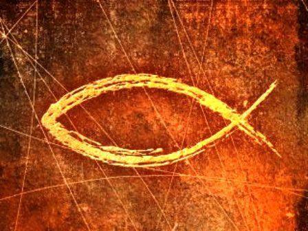 α , símbolo utilizado por el cristianismo primitivo.
