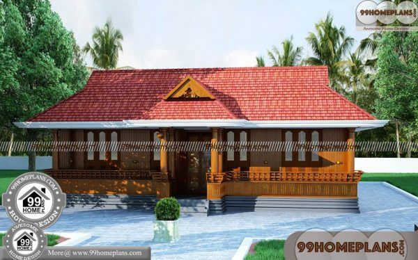 Small Nalukettu House Plans 80 Single Story Home Floor Collections Kerala House Design Village House Design Kerala Houses