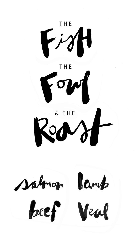 ink lettering for bon appetit // alaina sullivan