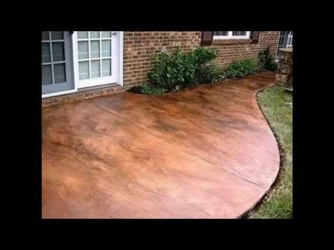 How To Acid Stain Concrete | DIY Acid Stained Concrete Patio   YouTube
