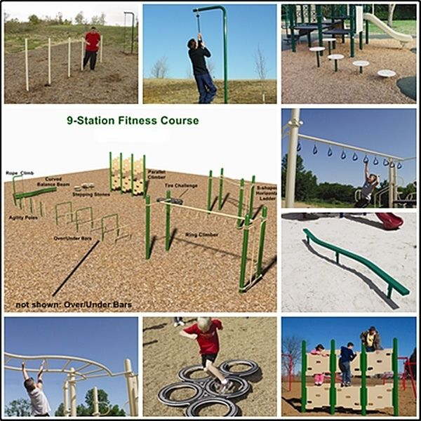 Elementary Fitness Course 9 Stations Fitness Courses No Equipment Workout Outdoor Fitness Equipment