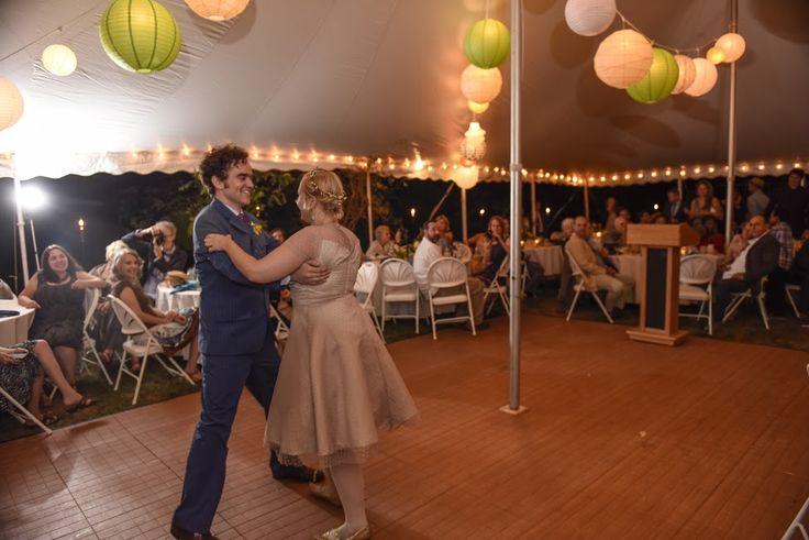 The newly married Mazers dancing on the wood look Ikaden floor!