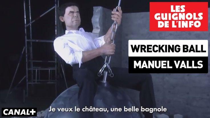 Wrecking Ball de Miley Cyrus selon Manuel Valls - Les Guignols de l'info
