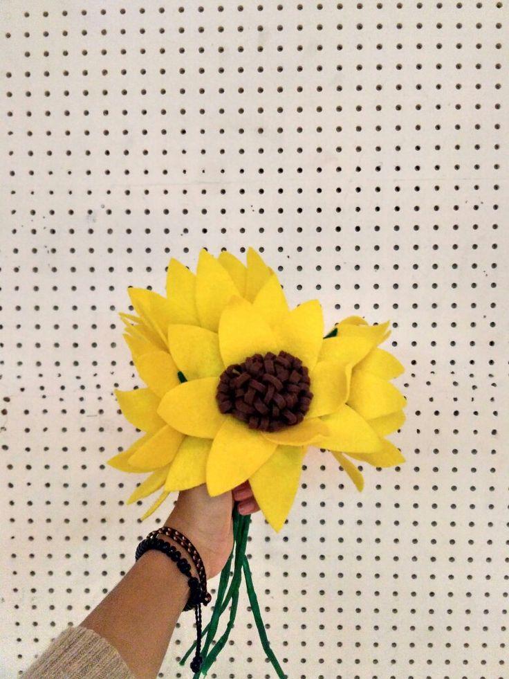 Sun flowers flanel