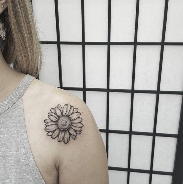 Dotwork+Shoulder+Tattoo+by+Ben+Doukakis