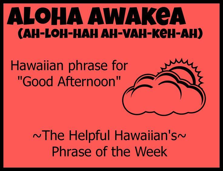The Helpful Hawaiian's Phrase of the Week: Aloha Awakea #Free vacation planning…