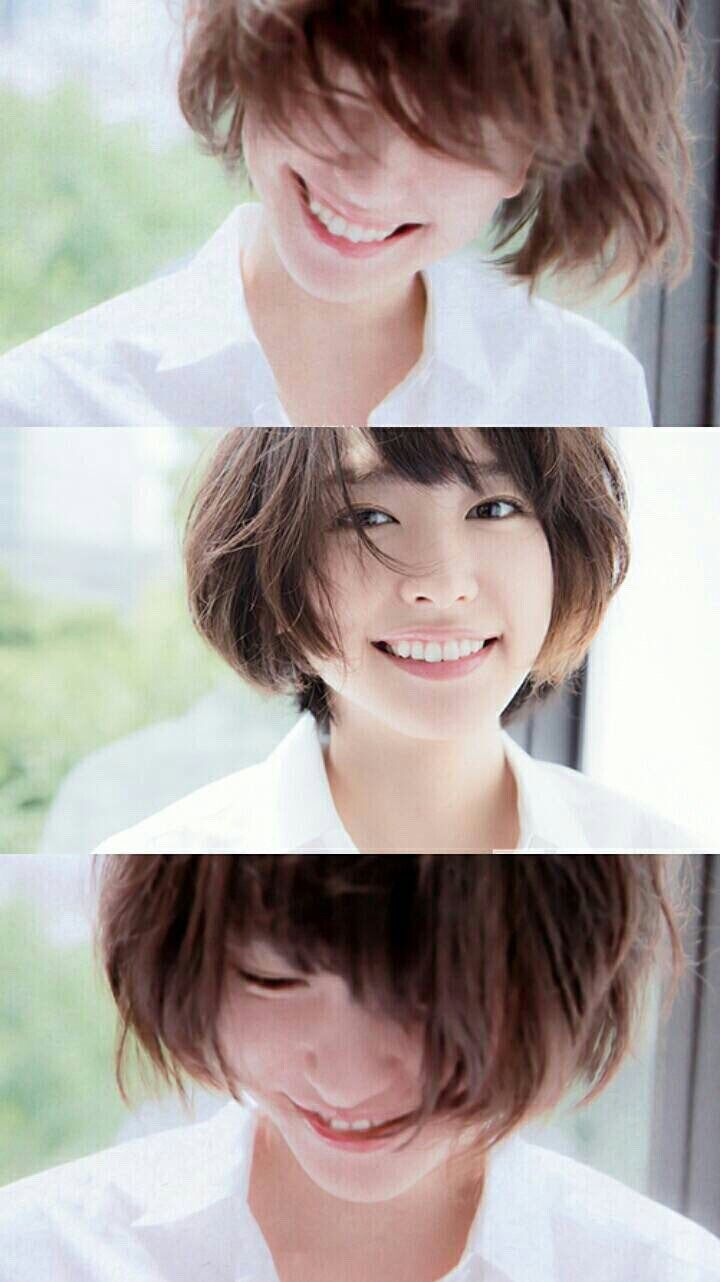 Yui Aragaki ショートヘア 女の子 ショートヘア 芸能人 可愛いヘア