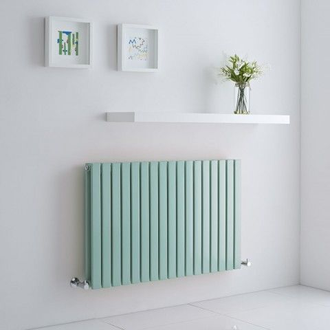 Mint Green Milano Capri - an unusual Duck Egg designer radiator to transform the look of your home.