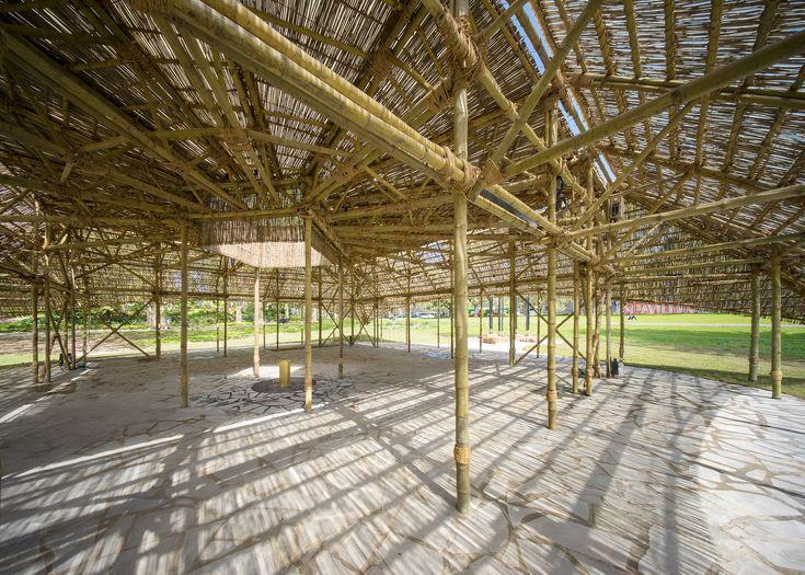 Studio Mumbai presents MPavilion built using seven kilometres of bamboo