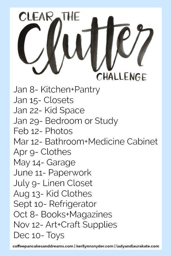 Clear the Clutter Challenge and Link Party, Organization Challenge #clutterorganization #clutterchallenge