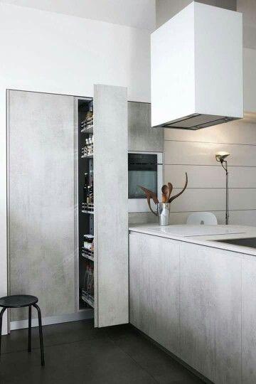 Een keuken van beton