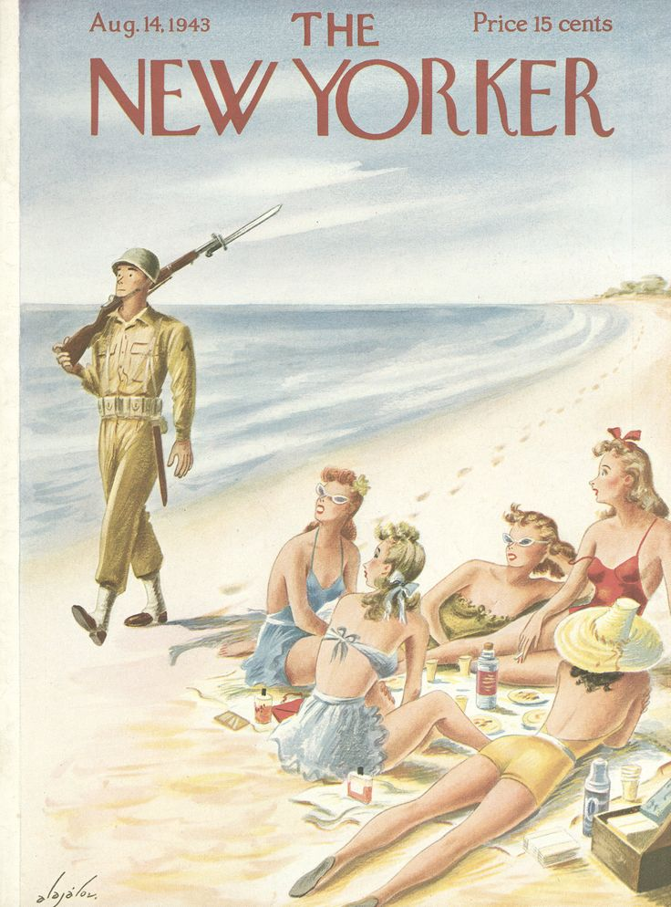 The New Yorker - Saturday, August 14, 1943 - Issue # 965 - Vol. 19 - N° 26 - Cover by : Constantin Alajalov