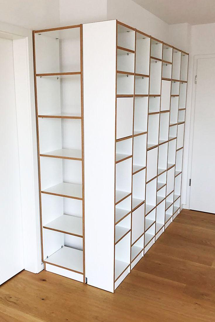 Wohnwand mit Regalsystem  Möbel nach maß, Wohnen, Regalsystem