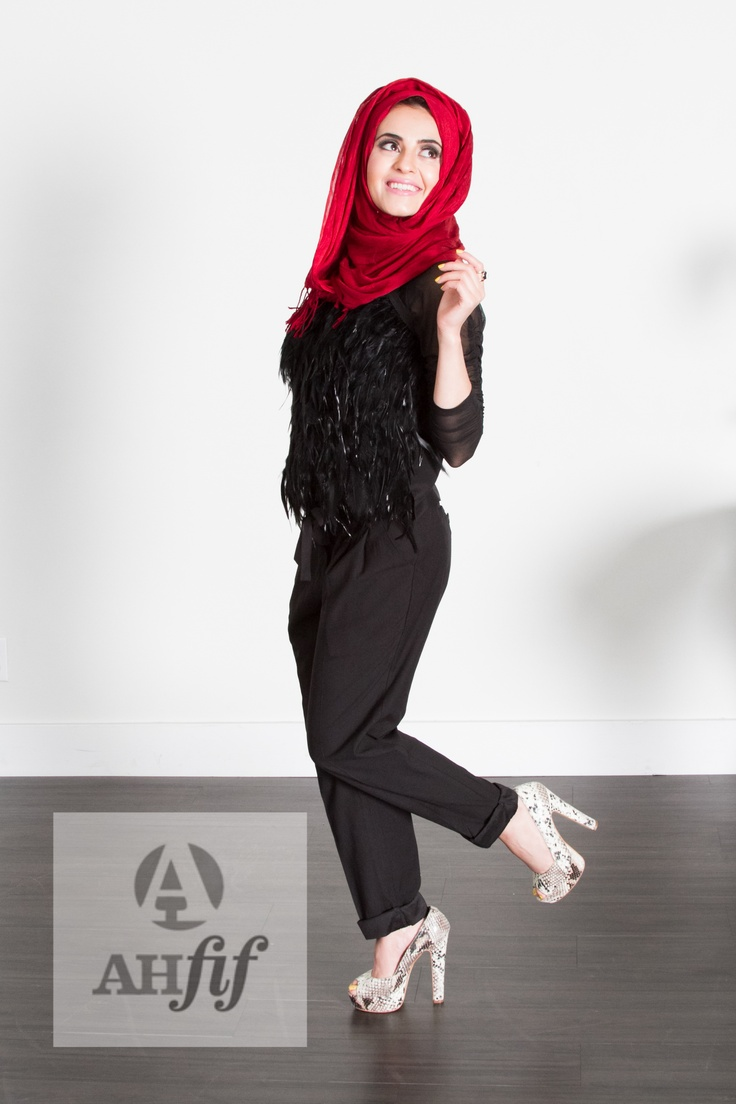 Hijab style red chic hijabista modern hijab pinterest chic hijabs and red Fashion style hijab modern