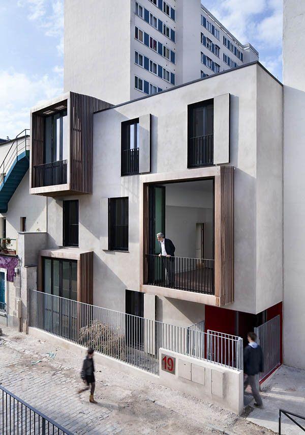 Tetris: habitação social e estúdios de artistas / Moussafir Architectes