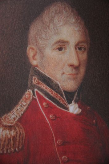 Lachlan Macquarie, c1819, watercolour on ivory miniature. State Lib.NSW. Macquarie was the fifth governor of the Colony of New South Wales.