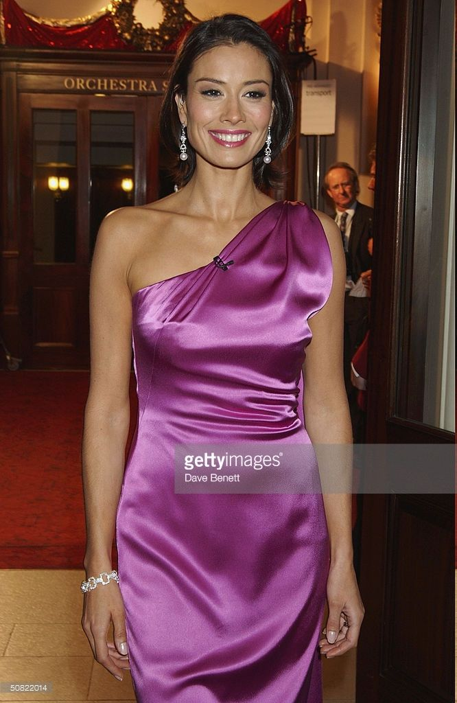Melanie Sykes attends the 2003 National TV Christmas Party at The Royal Opera House in Covent Garden on December 8, 2003 in London.