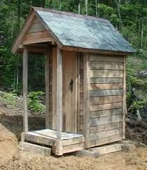 Image result for images of outhouse construction