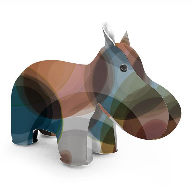 zuny classic hippo bookend is limited edition, here in bubble brown/blue. He is a great way to add some character to your bookshelf.