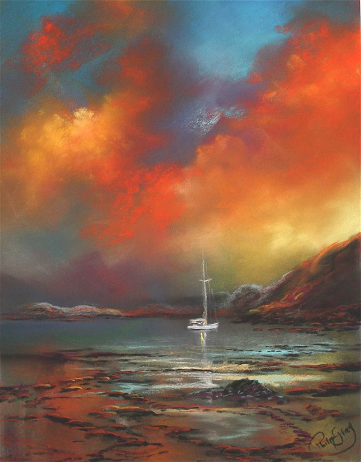 Evening Glow Pure Shores Paintings From Philip Gray