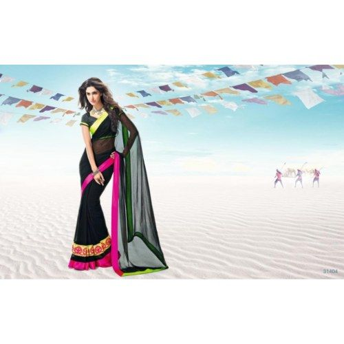 Sonakshi sinha sarees from movie r rajkumar - Chiffon Sarees by MIA