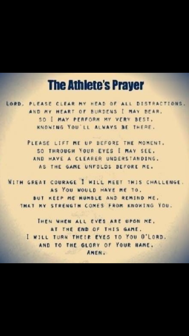 athletes prayer believe it or not i say this before every