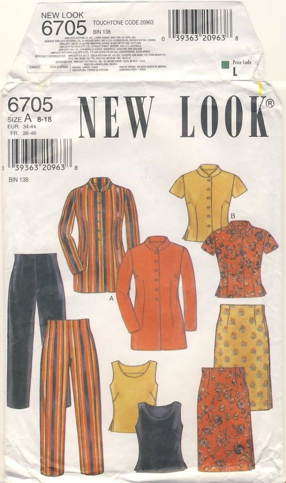 New Look  6705 Blouse Skirt Pants Sizes 8  10  by susanbeingsnippy