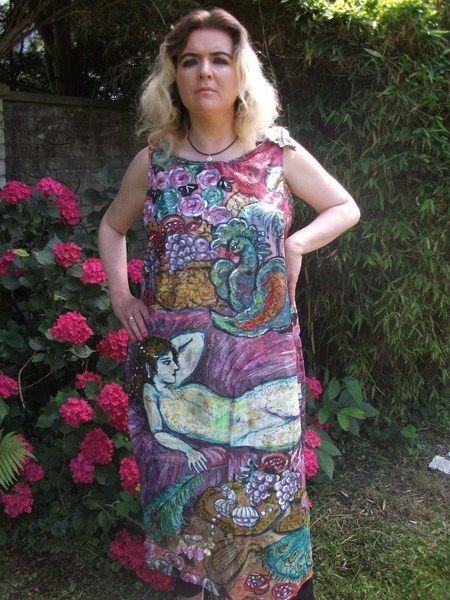 handbemaltes Seidenkleid Motiv:orientalisch von Amina-Marei auf DaWanda.com
