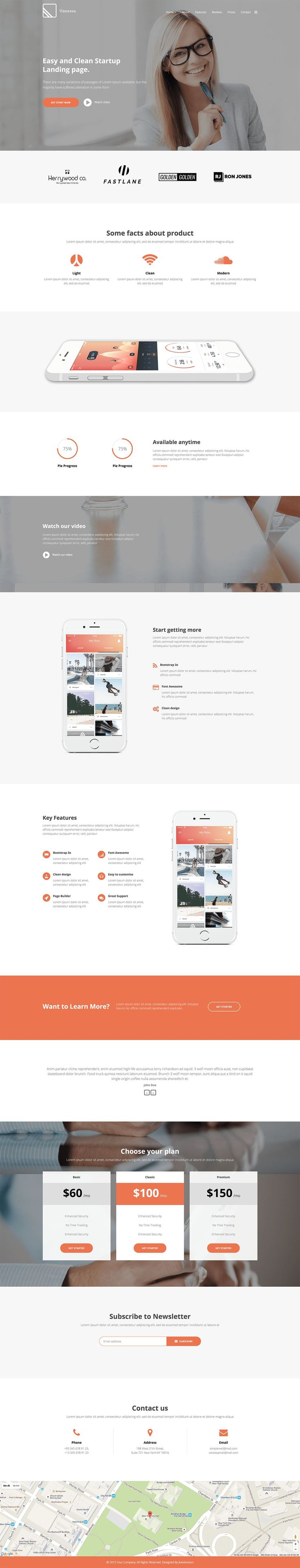 'Vanessa' is a long-scrolling One Page Joomla template suited for a clean landing page. The responsive template could be used quite well to promote your new app or website. Sections include big image/slide/video intro, feature infographics, pricing tables, newsletter signup, testimonial slider and nice big Google Map footer. Great to see another One Pager in the Joomla template category. Está farto de procurar por templates WordPress? Fizemos um E-Book GRATUITO com OS 150 MELHORES TEMPLATES…