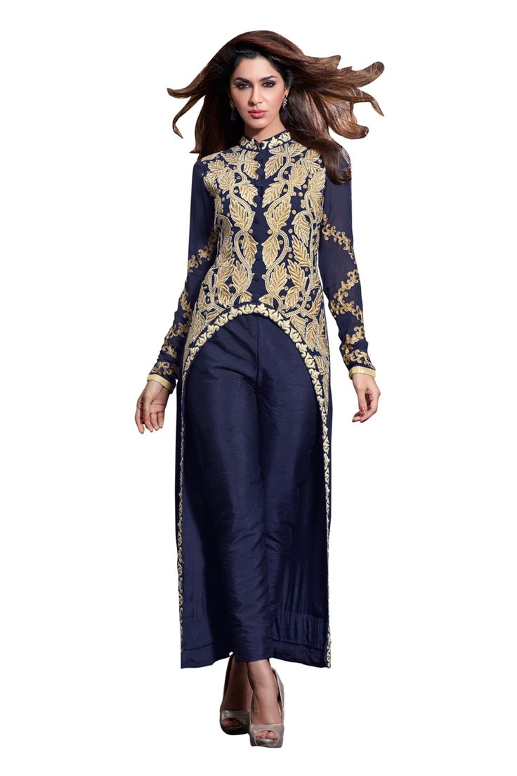 Buy Now Navy Blue Embroidery Georgette Semi-Stitch Designer Trouser Style Salwar Suit only at Lalgulal.com  Price :- 5,678/- inr. To Order :- http://bit.ly/MH2311 COD & Free Shipping Available only in India #anarkalis #anarkalisuits #anarkali #allthingsbridal #designersuits #bridalsuits #ethnicfashion #celebrity #shopping #fashion #bollywood #india #indiafashion #bollywooddesigns #onlineshopping #bollywoodsuits #partywear #collection