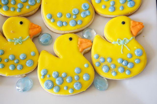 Rubber Duck baby shower cookies