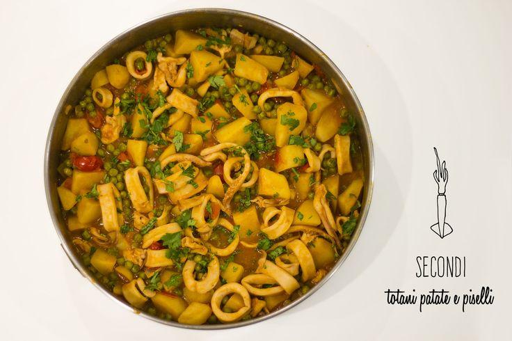Totani, patate, piselli New recipe on www.ilsolitomenu.com  #homemade #ilsolitomenu #foodblog